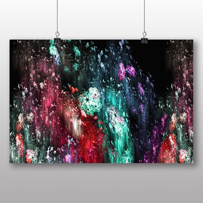 Big Box Art Colourful Paint Splash Abstract No.6 Art Print