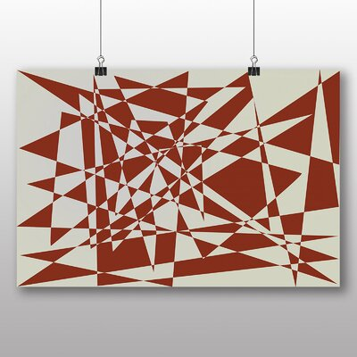 Big Box Art Geometric Abstract No.2 Graphic Art Wrapped on Canvas