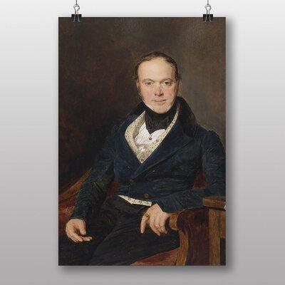 Big Box Art Portrait of Auguste Walter by Ferdinand Georg Waldmuller Art Print