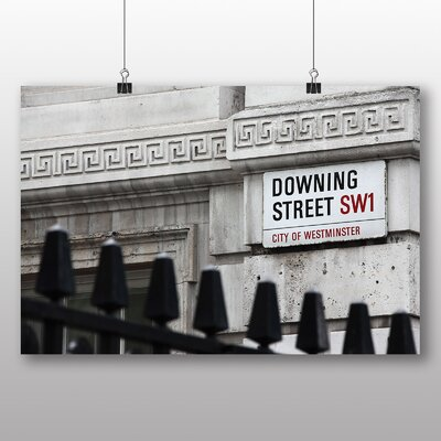 Big Box Art Downing Street London Photographic Print Wrapped on Canvas