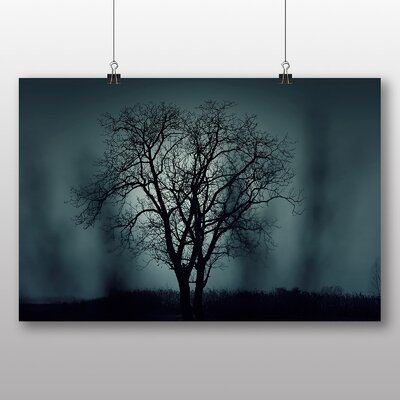 Big Box Art 'Dusky Blue Tree Scene' Photographic Print