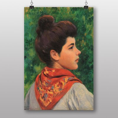 "Big Box Art ""Portrait of a Woman"" by Federico Zandomeneghi Art Print"