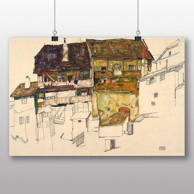 Big Box Art 'Old Houses in Krumau' by Egon Schiele Art Print