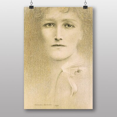 "Big Box Art ""Female Portrait"" by Fernand Khnopff Art Print"