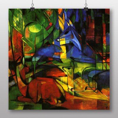 Big Box Art 'Deer in the Forest No.2' by Franz Marc Graphic Art