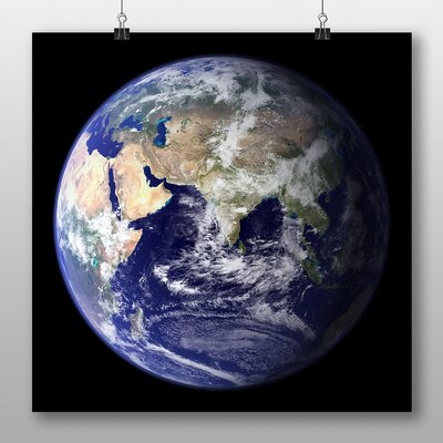 Big Box Art Earth from Space No.9 Graphic Art Wrapped on Canvas