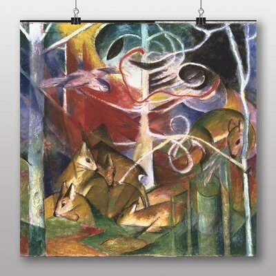 Big Box Art 'Deers in the Forest' by Franz Marc Art Print