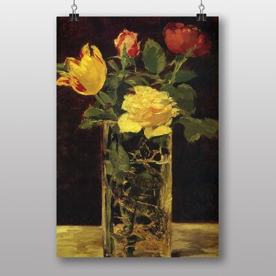 Big Box Art Rose and Tulip by Edouard Manet Art Print