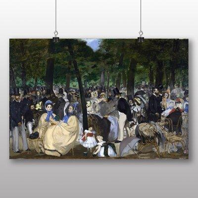 Big Box Art Music in the Tuileries Gardens' by Edouard Manet Art Print