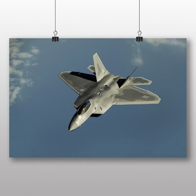 Big Box Art Fighter Jet No.7 Photographic Print Wrapped on Canvas
