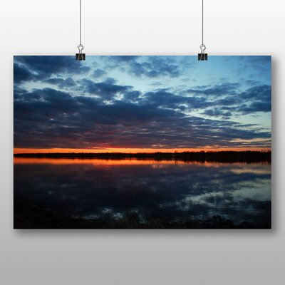 Big Box Art Dusk over a River Photographic Print Wrapped on Canvas