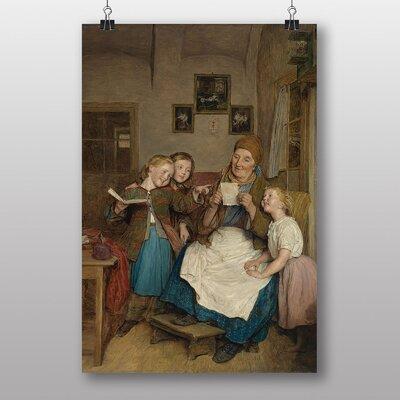 Big Box Art A Card for Grandma by Ferdinand Georg Waldmuller Art Print