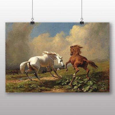 Big Box Art 'Two Horses' by George Stubbs Art Print