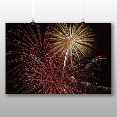 Big Box Art Fireworks at Night No.5 Graphic Art on Canvas