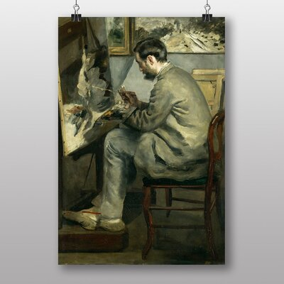 "Big Box Art ""Portrait of Auguste Renoir"" by Frederic Bazille Art Print"