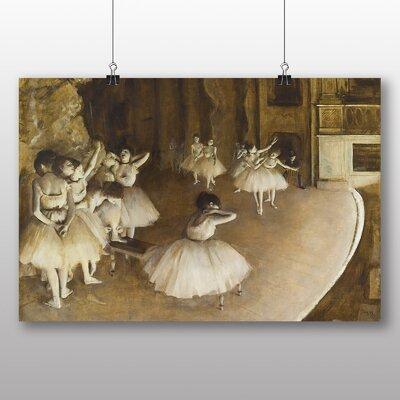 Big Box Art 'Ballet Rehersal on Stage' by Edgar Degas Art Print