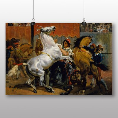 Big Box Art Start of the Race Riderless Horse' by Gericault Theodore Art Print