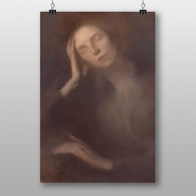 Big Box Art Woman Leaning on a Table by Eugene Carriere Art Print