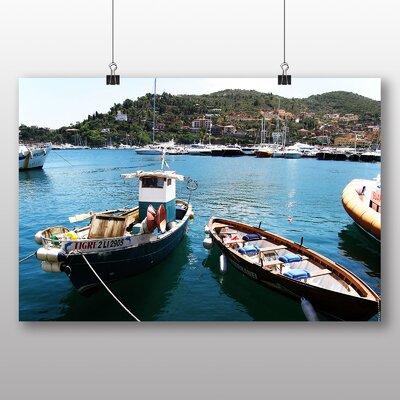 Big Box Art Fishing Boat Tuscany Italy Photographic Print on Canvas