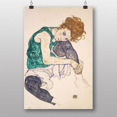 "Big Box Art ""Seated Woman"" by Egon Schiele Art Print"