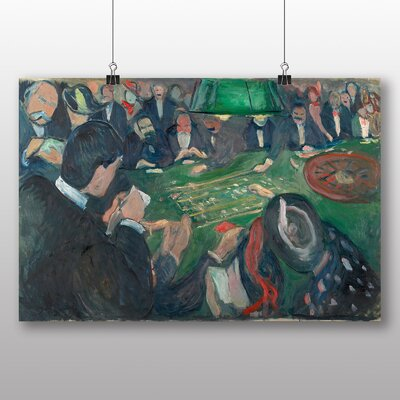 Big Box Art 'At the Roulette Table' by Edvard Munch Art Print