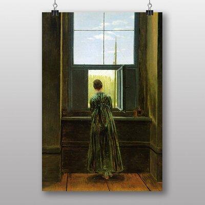 "Big Box Art ""Woman at a Window"" by Caspar David Friedrich Art Print"