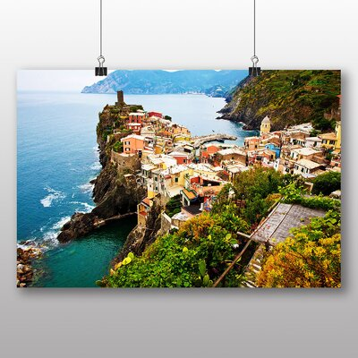 Big Box Art Cinque Terre Italy No.3 Photographic Print Wrapped on Canvas