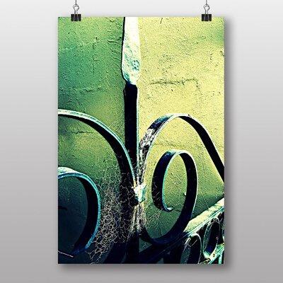 Big Box Art Garden Gate with Cobwebs Photographic Print