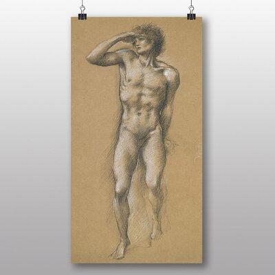 Big Box Art 'Male Study Sketch' by Edward Burne-Jones Art Print