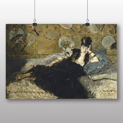 Big Box Art 'Woman with Fans' by Edouard Manet Art Print