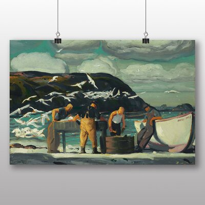 Big Box Art 'Cleaning Fish' by George Bellows Art Print