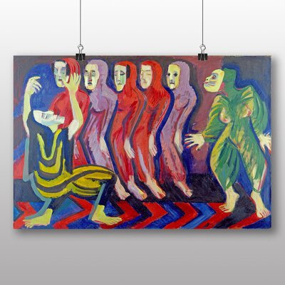 Big Box Art 'Dance of Death' by Ernst Ludwig Kirchner Art Print