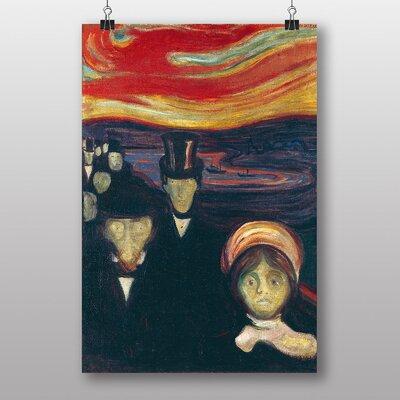 """Big Box Art """"Anxiety"""" by Edvard Munch Art Print"""