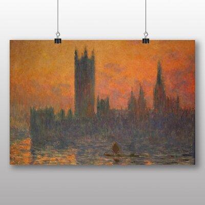 Big Box Art 'Houses of Parliment No.3' by Claude Monet Art Print