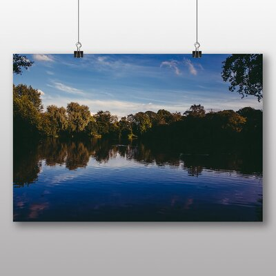 Big Box Art 'Forest Lake Landscape No.2' Photographic Print