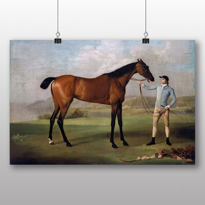 Big Box Art 'Molly Long Legs Horse with her Jockey' by George Stubbs Art Print