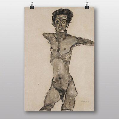 "Big Box Art ""Self Portrait No.4"" by Egon Schiele Art Print"