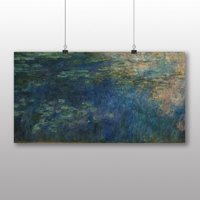 Big Box Art 'Reflections of Clouds' by Claude Monet Art Print