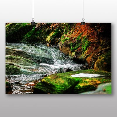 Big Box Art Forest Wood Stream No.3 Photographic Print Wrapped on Canvas
