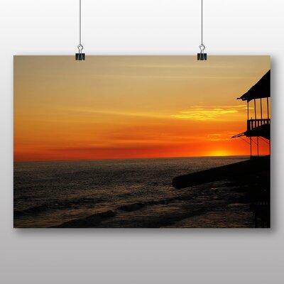 Big Box Art El Salvador Landscape Sunset No.1 Photographic Print Wrapped on Canvas