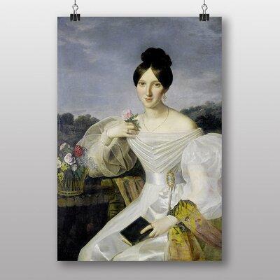 Big Box Art lady in White by Ferdinand Georg Waldmuller Art Print