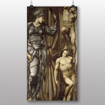 Big Box Art 'The Wheel of Fortune' by Edward Burne-Jones Art Print