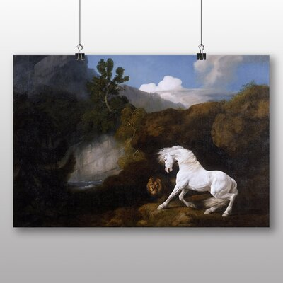 Big Box Art 'Horse Frightened by a Lion' by George Stubbs Art Print