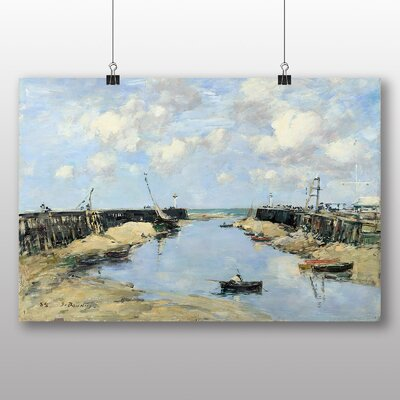 Big Box Art 'Trouville Harbour Entrance' by Eugene Boudin Art Print