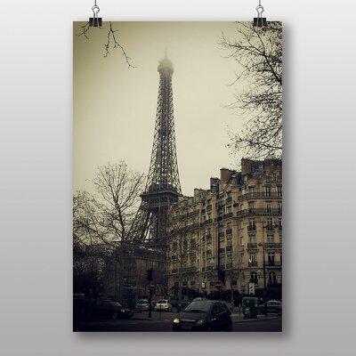 Big Box Art 'Eiffel Tower Mist Paris' Photographic Print