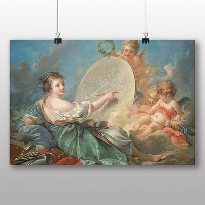Big Box Art 'Painting of a Cupid' by Francois Boucher Art Print