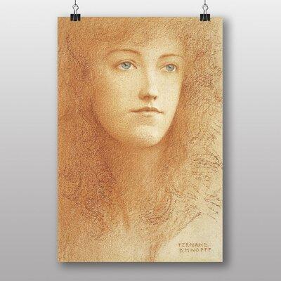 "Big Box Art ""Female Portrait"" by Fernand Khnopff Art Print"