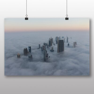 Big Box Art Dubai Clouds Photographic Print Wrapped on Canvas