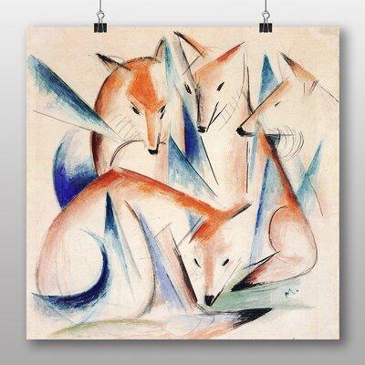 Big Box Art 'Foxes' by Franz Marc Art Print
