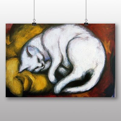 Big Box Art 'Sleeping Cat' by Franz Marc Art Print